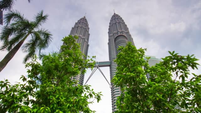 Malaysia-Kuala-Lumpur-Petronas-twin-Towers-Observation-Deck-Park-Panorama-4k-Zeitraffer