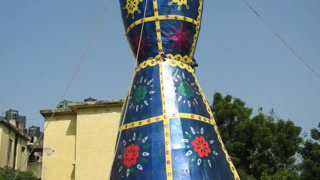 The-statue-of-Ravan-on-Dussera