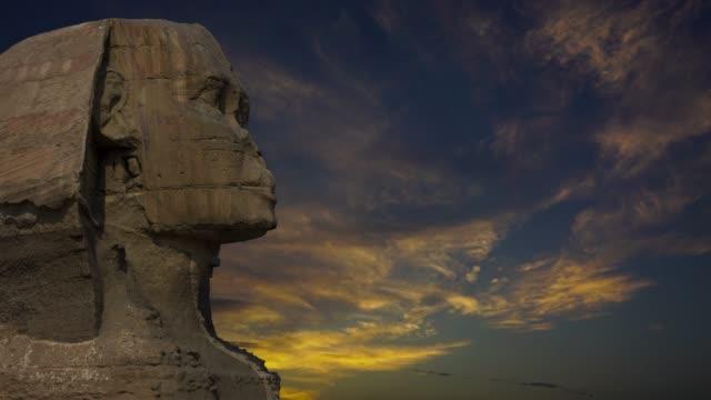 """Sphinx-und-Sonnenuntergang-Wolken-in-Ã""""gypten-Timelapse-4k"""