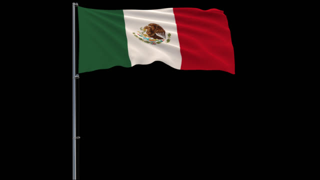 Flag-Mexico-on-transparent-background-4k-prores-4444-footage-with-alpha