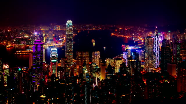 Blue-hour-time-lapse-of-Hong-Kong