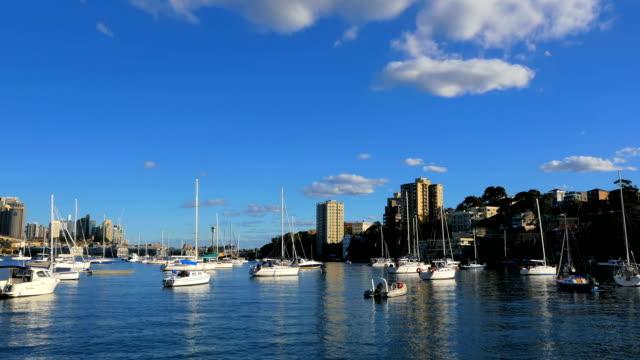 Panning-shot-of-Lavender-Bay-and-Sydney-Harbor-Bridge-(4K/UHD-to-HD)