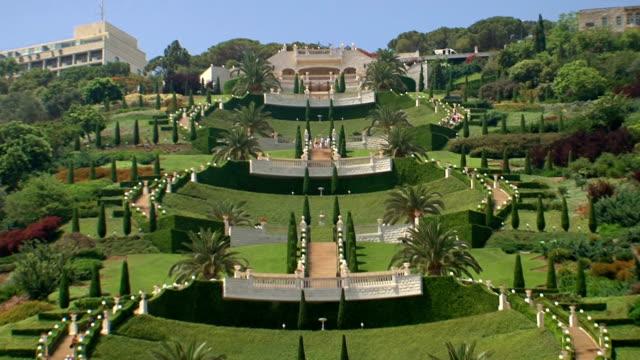 Down-the-hill-of-Bahaim-Gardens-Haifa-