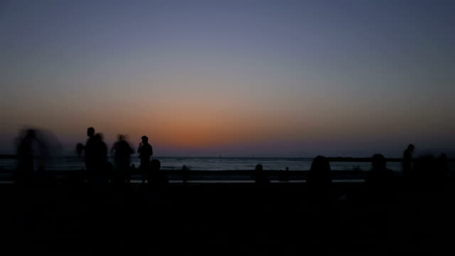 Tel-Aviv-city-Israel-beach-sunset-time-lapse