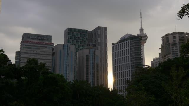 Malasia-al-atardecer-kuala-lumpur-central-klcc-park-centro-panorama