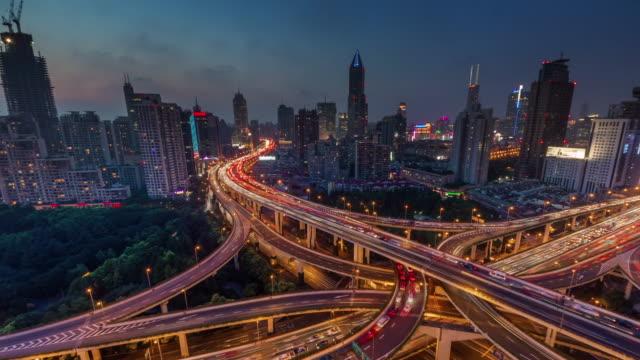 sunset-traffic-interchange-crossroad-4k-time-lapse-from-shanghai