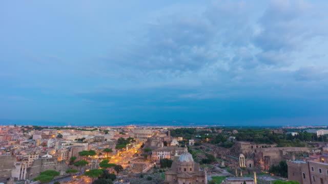 italy-sunset-storm-sky-twilight-altare-della-patria-rooftop-roman-forum-panorama-4k-time-lapse