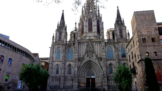 The-Cathedral-of-the-Holy-Cross-and-Saint-Eulalia-in-the-Gothic-quarter-of-Barcelona