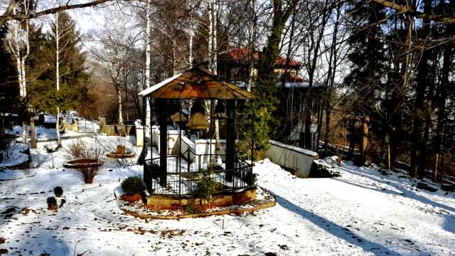 Dragalevsky-Monastery-a-Bulgarian-Orthodox-Church-bells-in-Winter