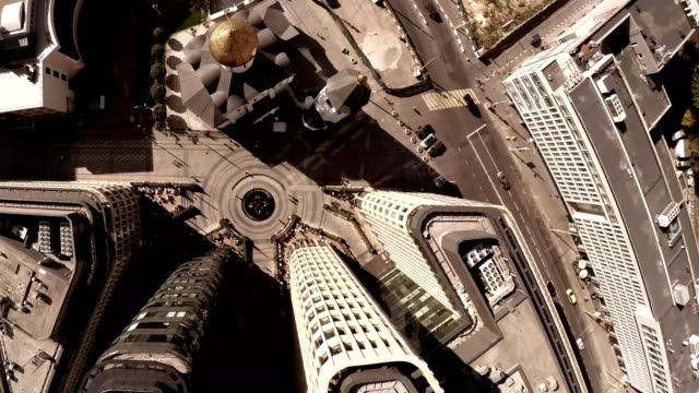 Aerial-of-Old-Believers-Church-in-the-Name-of-St-Nicholas-Highly-photogenic-church-situated-in-the-heart-of-one-of-the-business-areas-of-Moscow-Belorusskya-Station-Cathedrals-Sights-&-Landmarks