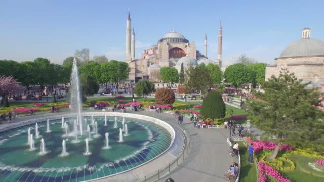 Luftaufnahme-der-Hagia-Sophia-in-Istanbul-Türkei