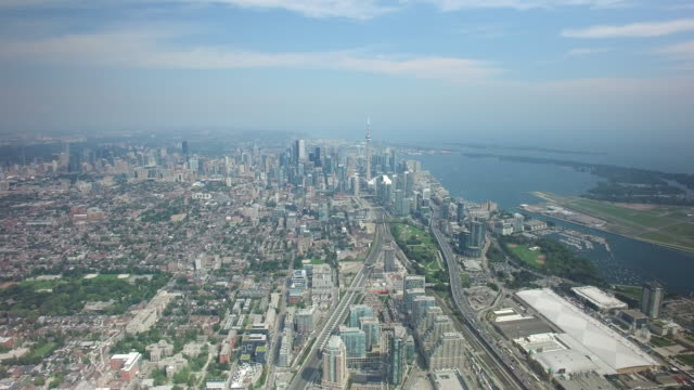 Toronto-Canada-Skyline-Aerial-From-West