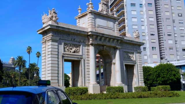 Valencia-España-Puerta-puerta-de-la-mar-(arco-del-triunfo)-antiguo-monumento