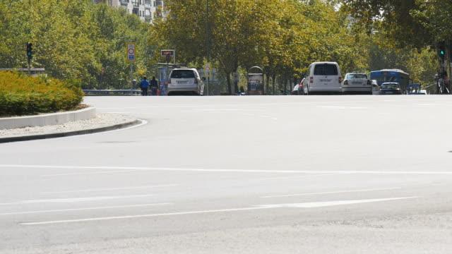 Timelapse-der-Plaza-Castilla-Madrid-Spanien
