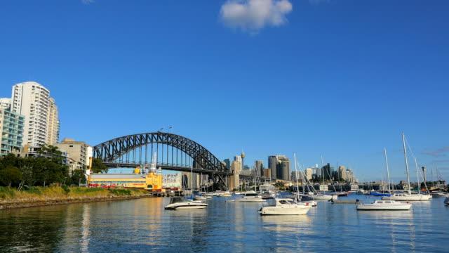 Lavender-Bay-and-Sydney-Harbor-Bridge-(4K/UHD-to-HD)