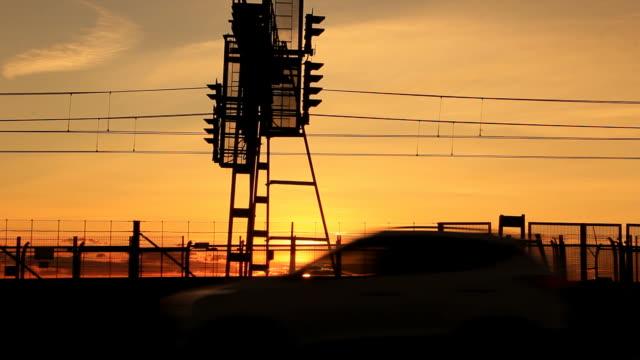 Sunset-Staus-Stadt-Rush-Hour
