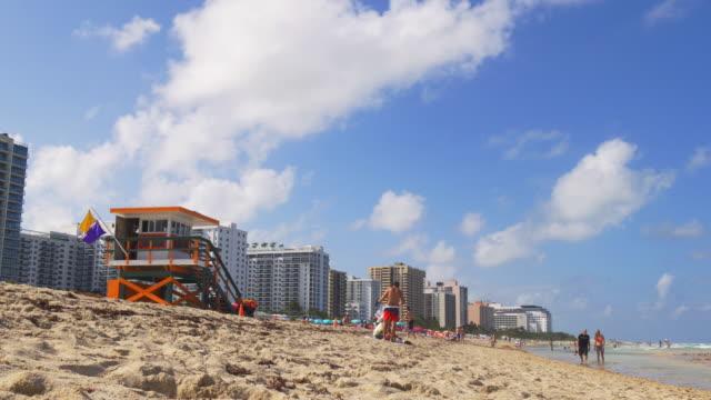 Usa-summer-day-miami-south-beach-lifeguard-tower-panorama-4k-florida