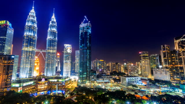 Kuala-Lumpur-Cityscape-Landmark-Travel-Place-Of-Malaysia-4K-Day-to-Night-Time-Lapse-(zoom-in)