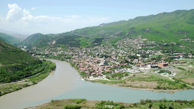 Aerial-view-of-Mtskheta-old-capital-of-Georgia