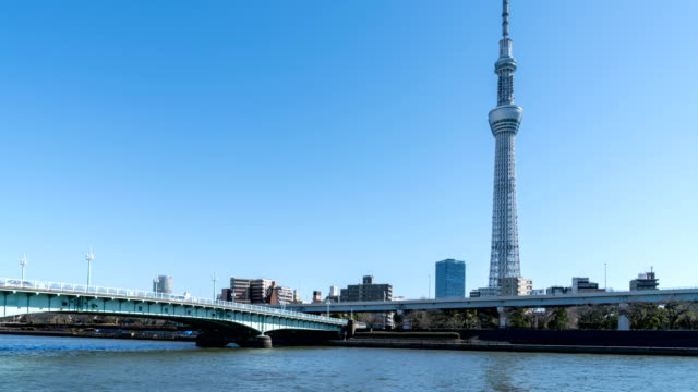 4K-Time-Lapse-:-Tokyo-sky-tree-and-Sumida-River