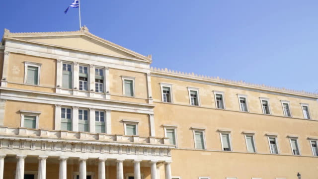 Building-of-Hellenic-Parliament-in-Athens-Greece-