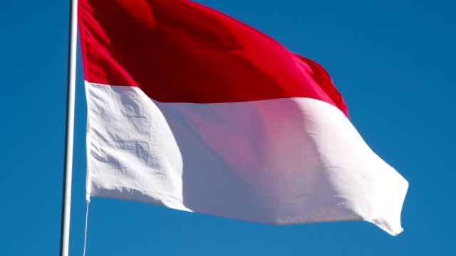 Flag-of-Indonesia-Fluttering-in-the-Wind