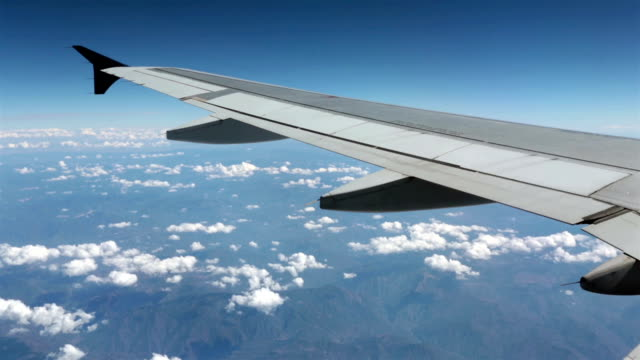 Aerial-passenger-aircraft-wing-over-Mexico-HD