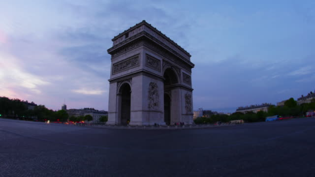 Champs-Elysees-at-sunset-in-Paris-France