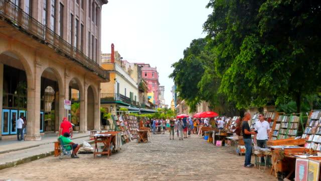 4K-Havana-Cuba-Quiet-Shopping-Area-on-Side-Street-Downtown