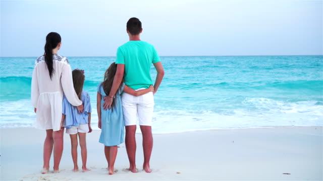 Strand-urlaub-familie