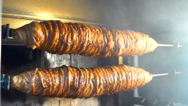 Turkish-lamb-kebab-Kokorec-street-food-in-Istanbul-Turkey
