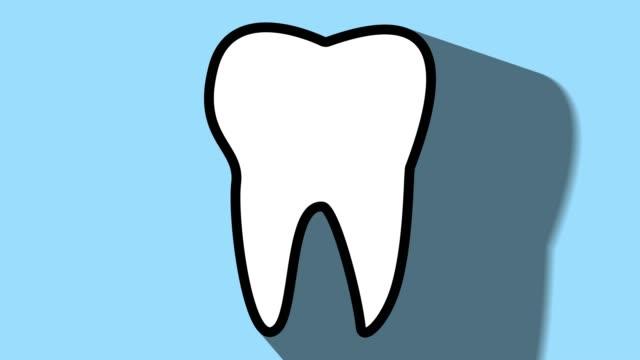 Tooth-dental-icon-long-shadow