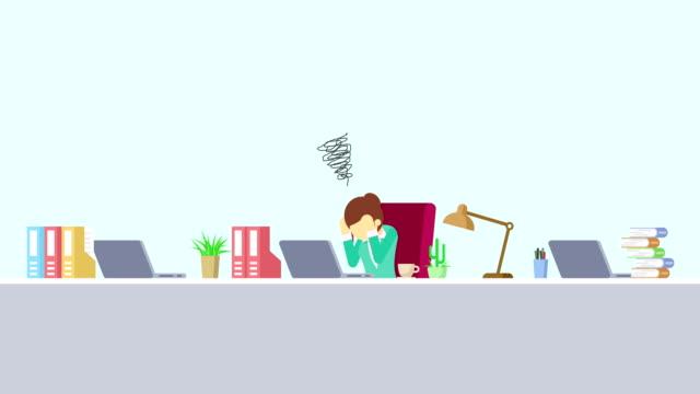 Hombre-de-negocios-está-funcionando-Se-turbe-Concepto-de-la-emoción-del-negocio-Ilustración-de-estilo-plano-del-lazo-