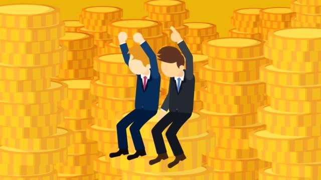 Hombre-de-negocios-rico-Concepto-de-desigualdad-Ilustración-de-estilo-plano-del-lazo-