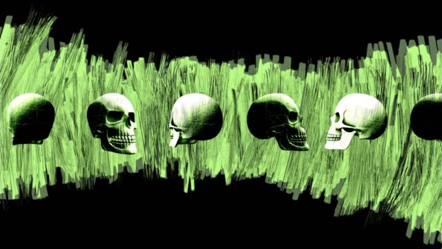 Abstract-Background-Halloween-Rotating-Scary-Skull-Lines-13