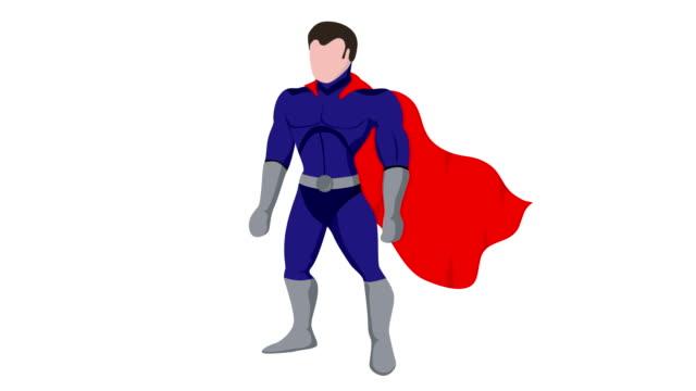 Cartoon-superhero-with-cloak-animation