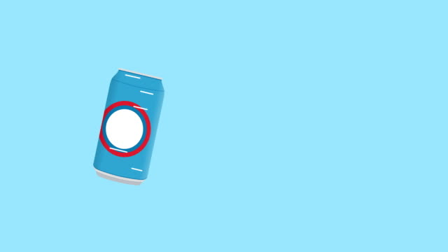 rotation-can-of-cola-in-flat-icon-style
