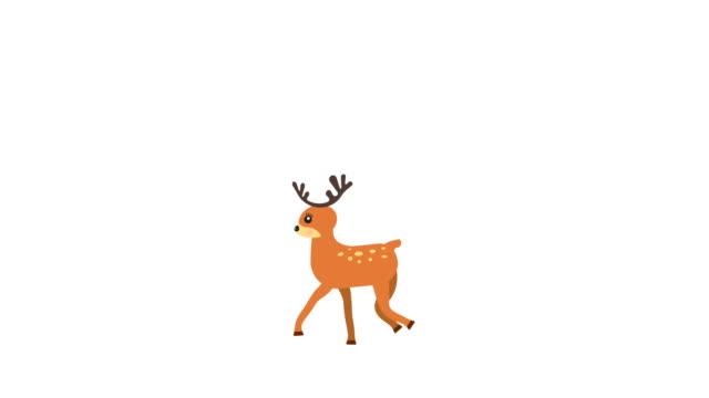 Dibujos-animados-bailarina-ciervos-poca-animación-con-mate-de-luminancia-opcional-Mate-Luma-alfa-incluido-4k-video