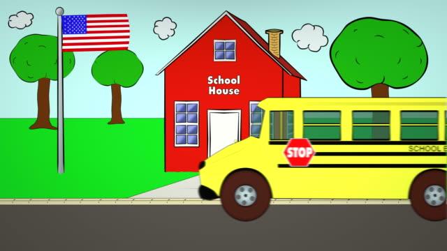 Autobús-escolar-Escuela-ida