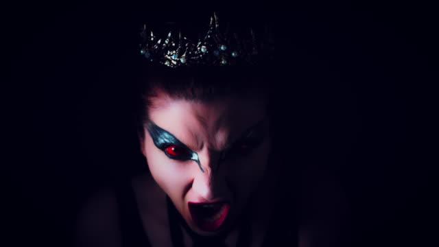 4K-Halloween-Horror-Woman-Shouting-Evil