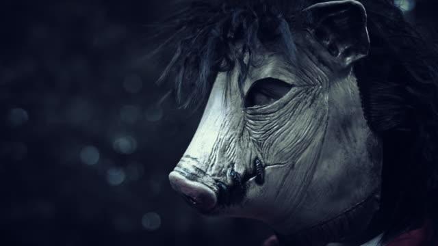 4K-Halloween-Horror-Man-with-Pig-Mask-Portrait