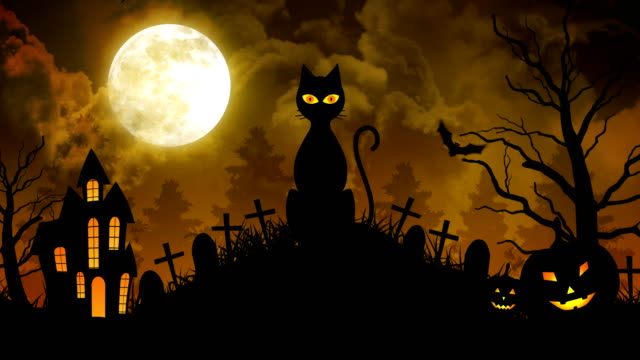 Scary-Cat-and-Castle-and-Moon