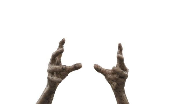 Muertos-vivientes---las-manos-y-los-antebrazos-de-un-zombie-que-se-levanta-de-entre-los-muertos