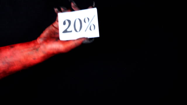 Red-demon-hand-holding-sale-card-20-percentage-50-fps