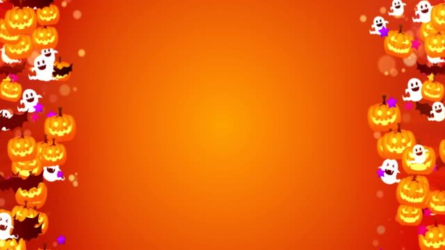 Linda-de-Halloween-sobre-fondo-naranja-lazo