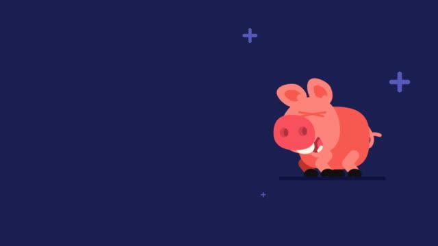 Cerdo-y-estrellas-parpadeantes-graciosos-personajes-animales-Chino-horoscopo