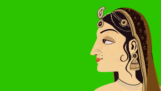 Traditional-Indian-Hindu-Woman-On-A-Green-Screen