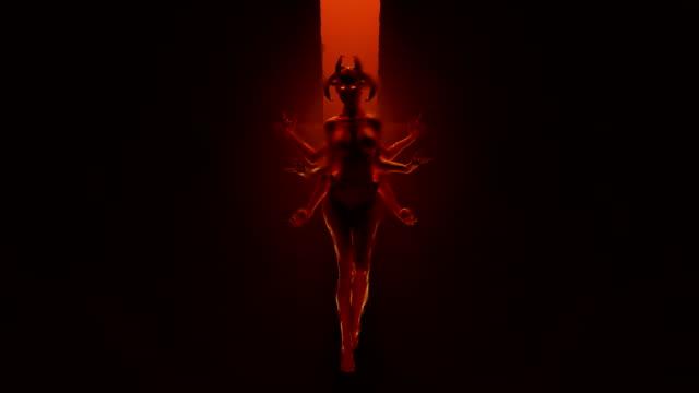 Sexy-Multi-Armed-Devil-Woman-floating-in-a-fiery-inferno