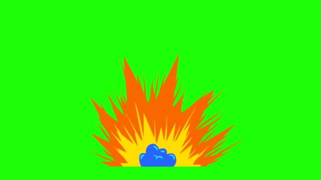 Mano-dibujada-animación-fotograma-por-fotograma-de-explosión-de-dibujos-animados-Fresas-de-cómic-de-estilo-retro