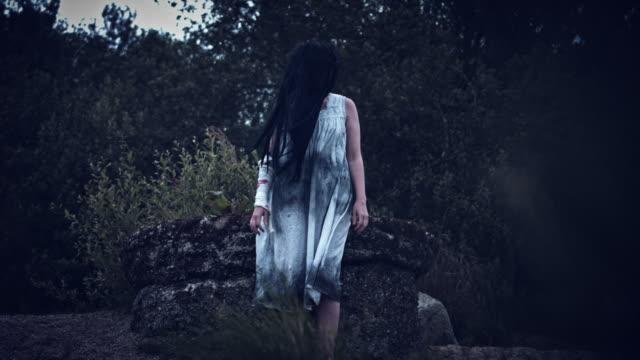 4k-Horror-Woman-in-Dirty-Dress-Standing-in-Wind
